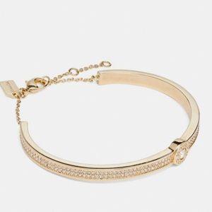 Coach Open Circle Pave Bracelet